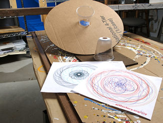 DIY turntable for marker art -